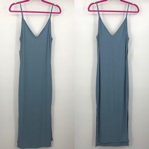 New Cherish Light Blue Spaghetti Strap Midi Dress